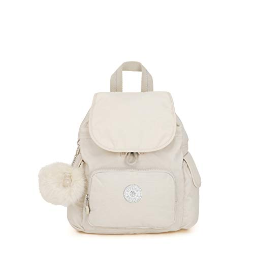 Kipling City Pack Mini - Zaini Donna, Bianco (Dazz White)