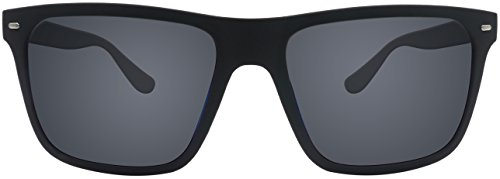 Sonnenbrille La Optica UV 400 Herren Männer Jugendliche Eckig - Einzelpack Gummiert Schwarz (Gläser: Polarisiert Grau)