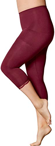 Golden Lutz Damen Capri-Leggings, figurformend ++ Plus Size ++ (Bordeaux, Gr. XL 48/50) | ESMARA Lingerie