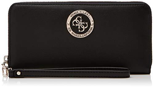 Guess Damen Landon SLG Large Zip Around Geldbörse, Schwarz (Black), 21x10x2 Centimeters