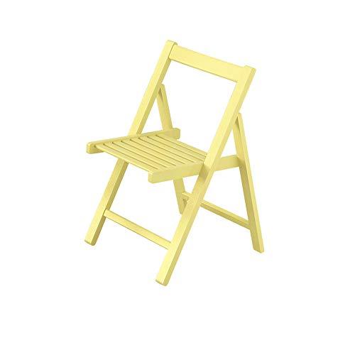 sch, tragbarer klappbarer Aufbewahrungstisch, erweiterter Schreibtisch mit 4 bis 6 Sitzen, fahrbarer Rollwagen, klappbare Stühle,SingleChairYellow ()