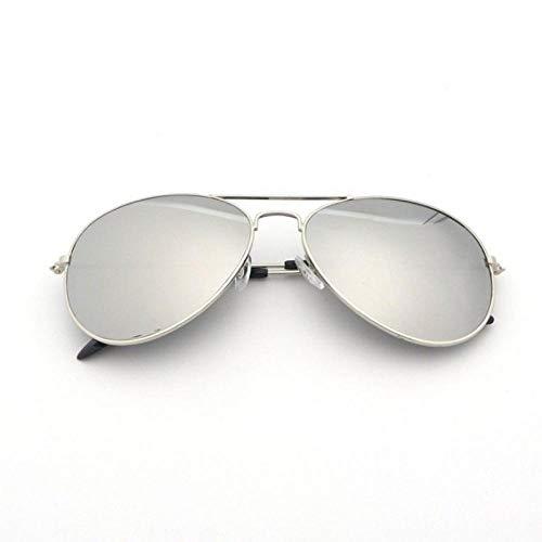 Weibliche FLIEGER Sonnenbrille männliche Fahrer fuhren Strahlung UV F1 Fahrer Sonnenbrille männliches goldgerahmten Gläser Textilgutrollen silber Hand Seil, Silber Rahmen Silberstück _ + -tuch Spiege
