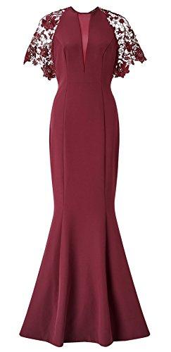 Nevada Lace Shoulder Fishtail Dress