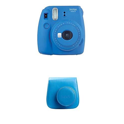 Fujifilm Instax Mini 9 Kamera, kobalt blau mit Tasche