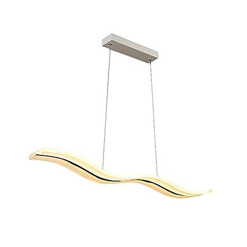 Pendelleuchte LED Leuchte Decken Beleuchtung Wohnzimmer Esszimmer Küche Schlafzimmer Lampe Innenbeleuchtung Acryl Wellig Schatten