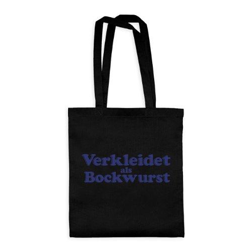 dress-puntos Baumwolltasche Verkleidet als Bockwurst 20drpt15-bwt00378-14 Textil black / Motiv violett - 42 x 38 cm