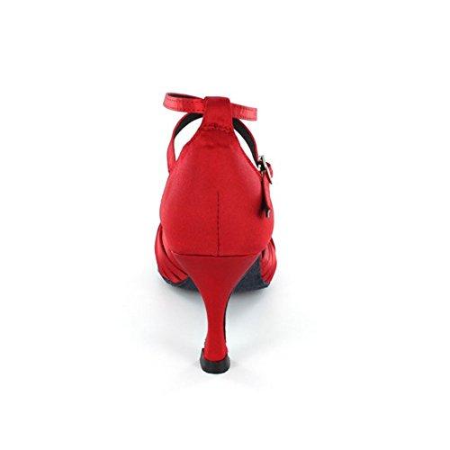 KAI-ROAD Damen Tanzschuhe, Rot - Rot - Größe: 38 - 5