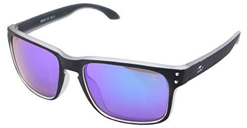 ROADSIGN Sonnenbrille Unisex UV 400 SchutzI Modell Wayfarer I Glasfarbe: türkis