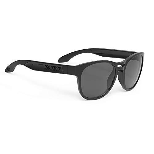 Rudy Project Spinair 56 Sunglasses Black Gloss - RP Optics Smoke Black 2019 Fahrradbrille