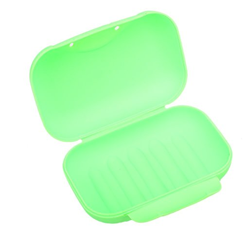 Plastic Soap Case Holder Container Box Home Outdoor Hiking Camping Travel Green