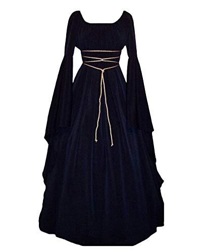 Penggenga vestito vestito cosplay medievale da donna abito lungo retrò costume di halloween marina l