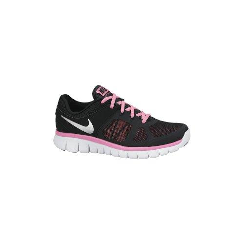 Nike  Flex 2014 RN (GS), Baskets pour femme Multicolore - Negro / Plata / Rosa / Blanco