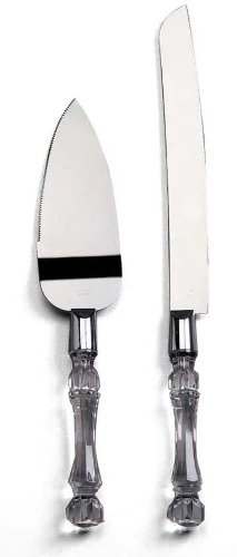 Darice Stainless Steel Knife and Cake Server Set