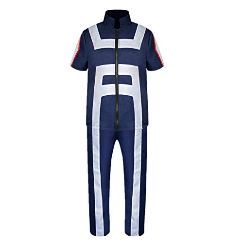 My Hero Academia Boku No Hero Academia Izuku Midoriya Gymnastics Suit bnha mha Gym Cosplay Costume Training Suit Uniform Sportswear,S