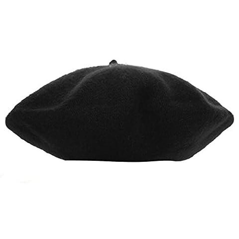 Fami Bébés filles Princesse Dome Beret Hat (Noir)