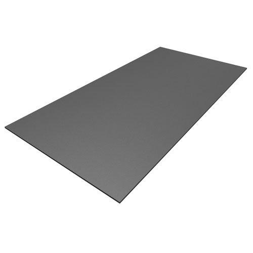 Preisvergleich Produktbild Kunststoff Bastelplatten grau 1000 x 500 x 3 mm zum Basteln,  für Modellbau,  Möbelverblendung,  Laubsägearbeiten,  Schilder,  Werbetafeln
