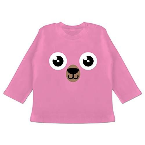 Grizzly Baby Bär Kostüm - Karneval und Fasching Baby - Bär Karneval Kostüm - 12-18 Monate - Pink - BZ11 - Baby T-Shirt Langarm