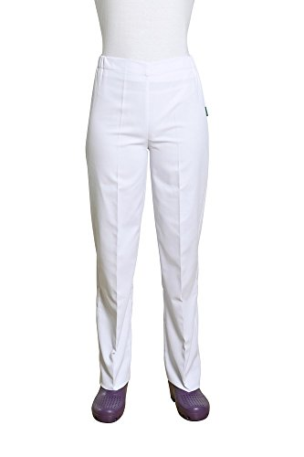 Holtex warr07_ 00arral, Pique Damen Hose, Größe 00, weiß