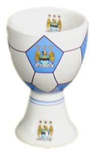 Official Crested MANCHESTER CITY F.C. Ceramic Egg Cup