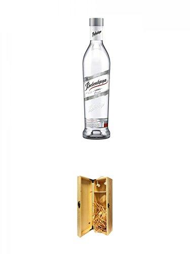 Belenkaya-Luxe-Russischer-Vodka-07-Liter-1a-Whisky-Holzbox-fr-1-Flasche-mit-Hakenverschluss
