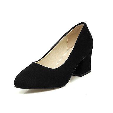 Talloni delle donne Primavera Estate altro vestito similpelle tacco grosso Altri Nero Beige Black
