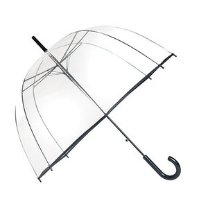 SMATI trasparente Ombrello da donna - a cupola trasparente con bordo nero - apertura automatica