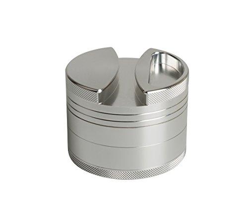 opdamyi Molinillo de Hierbas Especias Tabaco Grinder, Aleación de Aluminio, 4 Piezas