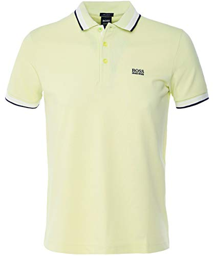 BOSS Herren Poloshirt Paddy, Gelb (Light/Pastel Yellow 744), XXL