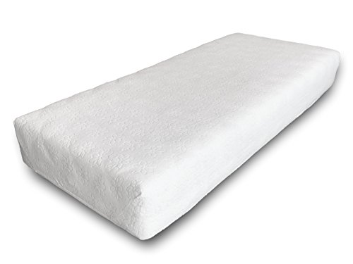 Coprimaterasso SPUGNA, Jacquard, a cappuccio con elastici, per materasso da una piazza e mezza cm.120x200