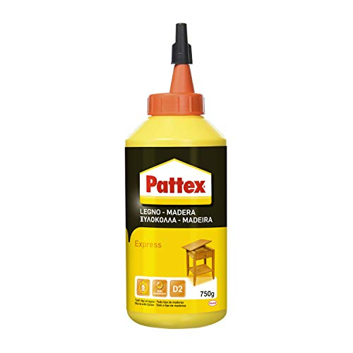 Pattex Pegamento express para madera, resistente al agua y tracción, 750gr