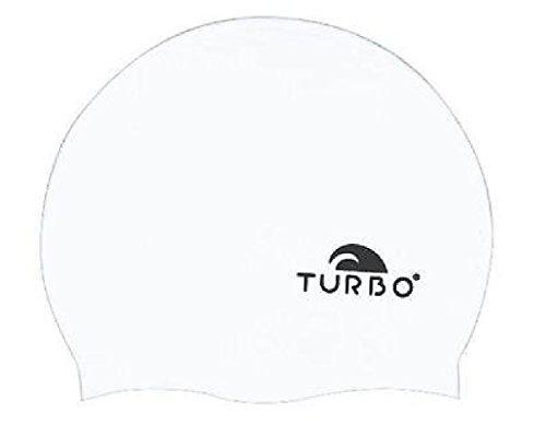 TURBO Badekappe Basic aus Silikon weiß