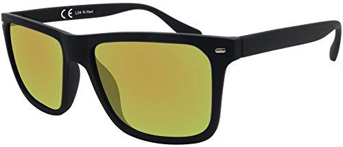 Original La Optica Verspiegelte UV400 Herren Sonnenbrille Eckig - Farben, Einzel-/Doppelpacks...