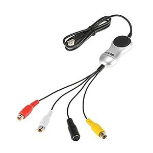 SOLUSTRE Video-Capture-Karte-Adapter, USB 2.0-Video-Audio-Capture-Karte-Gerät-Adapter VHS-VCR-TV-DVD-Konverter…