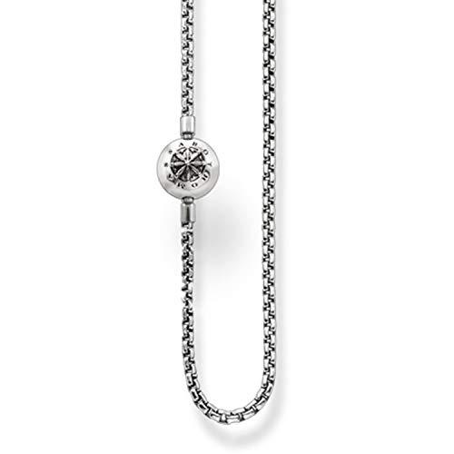 Thomas Sabo Unisex-Kette Karma Beads 925 Sterling Silber geschwärzt Länge 50 cm KK0002-001-12-L50
