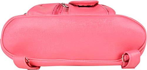 SK NOOR Fashion Women's PU Faux Fur Hand Bag Backpack (Pink) Image 4