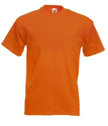 fruits-of-the-loom-t-shirt-en-coton-epais-pour-homme-uni-orange-orange-xl