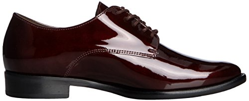 Gabor - Tramp, Scarpe stringate basse derby Donna Rosso (Red (Burgundy Glossy Patent))