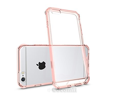 iPhone 6S Plus / 6 Plus Coque, Cocomii Modern Armor NEW [Crystal Clarity] Premium HD Clear Anti-Scratch Shockproof Hard Bumper Shell [Slim Fit] Full Body Ultra Thin Lightweight Transparent Cover Case  Crystal Pink