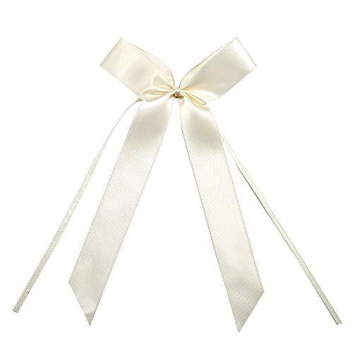tennenschleifen Cream Autoschmuck Autoschleifen Hochzeit, Hochzeitsfeier Dekoration (Elfenbein) ()