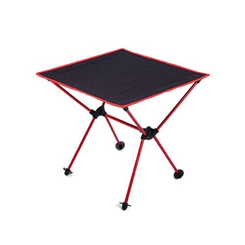 MUMM Picknicktisch Und Stühle Faltbare Faltbare Catering Camping Bock Tisch Leichte BBQ Indoor Picknick Party oO (Color : Red) - Picknick-tische Eiche