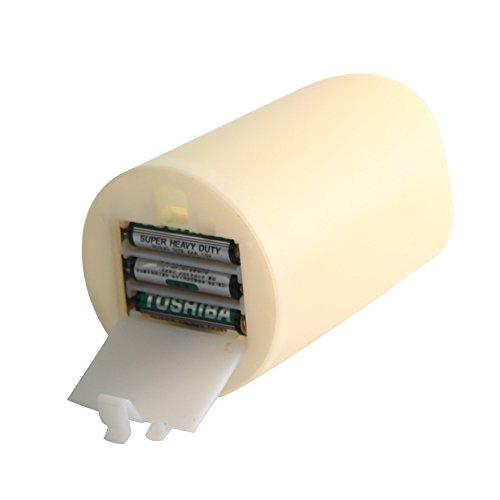 ParaCity de alta calidad para interiores/al aire libre Funciona con pilas sin llama pilar vela Led luz de plástico con 4y 8horas temporizador