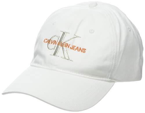 Calvin Klein Damen J Monogram W Baseball Cap, Weiß (Bright White 102), One Size (Herstellergröße:OS)
