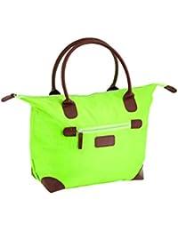 f7f5f19fc3dbb Damen Nylon Shopper Tasche Wasserdichte Handtaschen Faltbare  Schultertaschen Mittel