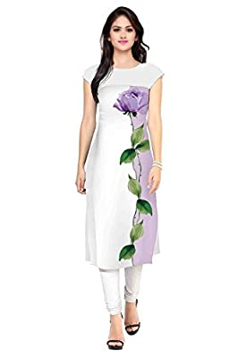 Bankcroft Export Women's Straight White Kurtas - Multi-Coloured ?Total number of items sold : only Top (Kurti) Coming
