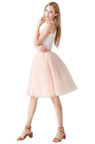Prinzessin Rot Kostüm Braut - Prinzessin Tütü Rock tüllrock Unterrock für Hochzeit OneSize Rosa