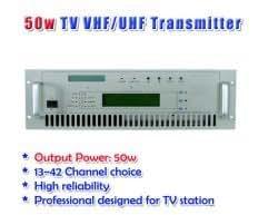 Gowe 50W émetteur TV UHF/VHF 50W 100W 300W en rack 19'Professinal Conçu pour TV Station