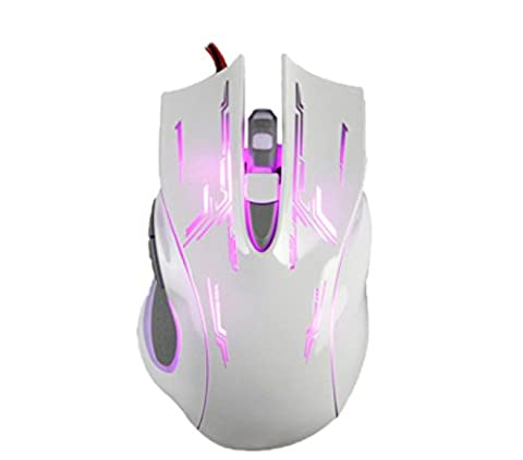 MDSNFH Gaming Mouse Profession Electronic Sports Ergonomics Optical Sensor Accurate Multi-color Optional Laptop Mouse ,White-10-13CM