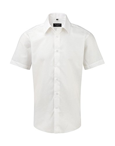 Russell Collection kurzarm Oxford-Hemd R-923 m Shirt weiß - weiß