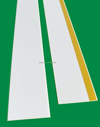 BawiTec PVC-Kunststoffleiste Abdeckleiste selbstklebend 60mm 600cm weiß Kunststoff