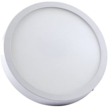 Alverlamp DL30PL60S - Downlight LED, 30W, 6000K, superficie redondo blanco, chip Led